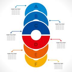 creative colorful circle info-graphics design vector