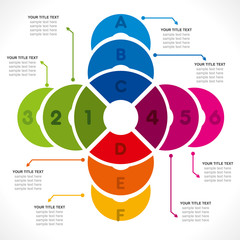 creative colorful circle info-graphics design vector