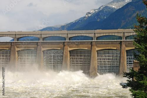 Fotobehang Dam Bonneville