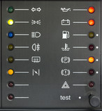 Set Of Indicators On a Car's Dashboard