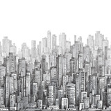 City landscape, hand drawn  vector - 61772854