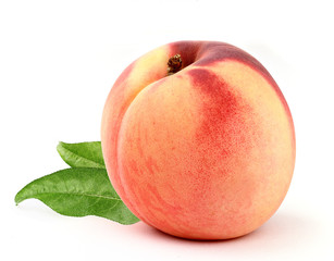 peach with leafs