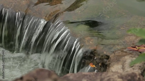Beautiful little waterfall. close up