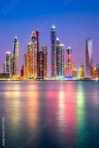 Plexiglas Dubai Dubai Marina. UAE.