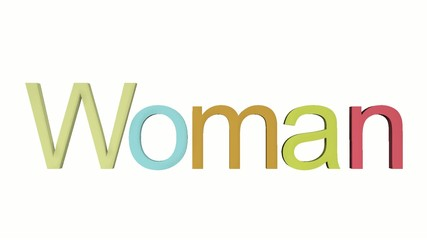 3D Word Woman