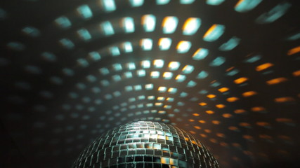 Disco ball with reflection on the wall, HD 1080i.