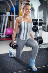 Lunges with Dumbbell