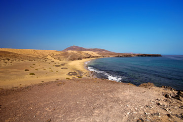 Beautiful Papagayo beach at Lanzarote