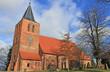 canvas print picture - Gotische Dorfkirche Kalkhorst (14. Jh., Mecklenburg-Vorpommern)