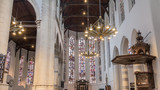 Interior of the famous old church Delft in the Netherlands