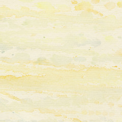 Abstract painted watercolor background with yellow splashes