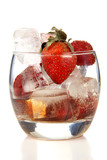 Strawberries and lemon wine