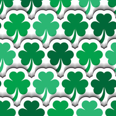 St Patrick's Layered Shamrocks Background