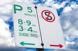 school day sign