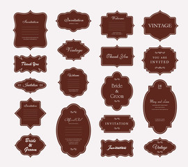 Vector Vintage Frame Set