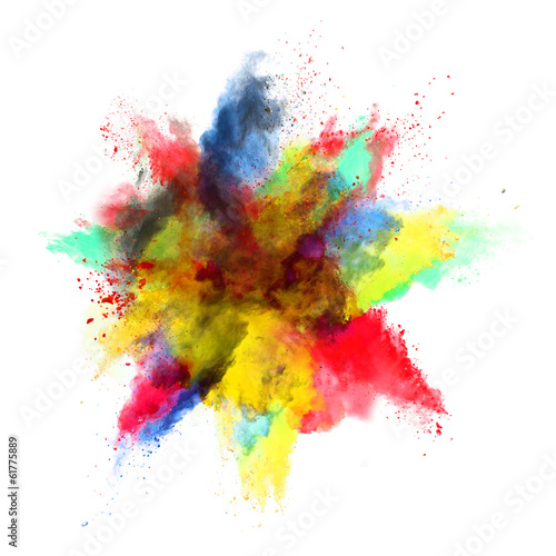 canvas print picture colored dust