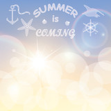 Summer is coming creative poster