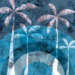 Blue grunge summer background