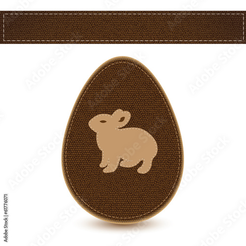 Vector easter egg sewn leather sample