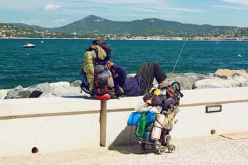 Tourist on the coast of Saint Tropez, France