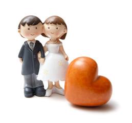 figurine de mariés