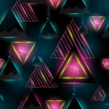 triangle seamless pattern. geometric background