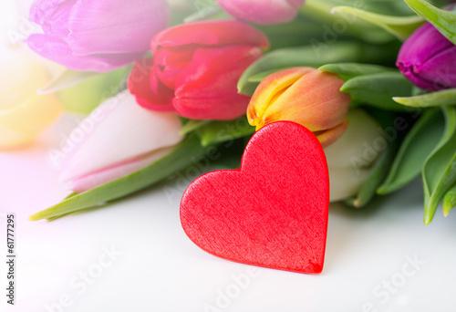Herz, Strauß Blumen,Karte Geschenk