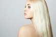 Beautiful Woman with Amazing Hair. Beauty Sexy Blond Girl