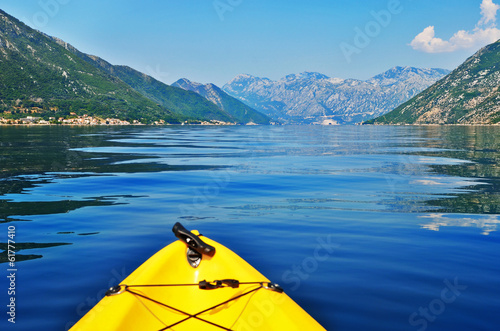 kayak travelling in montenegro kotor bay