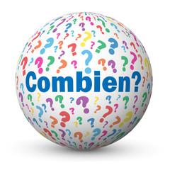 "Globe ""COMBIEN?"" (questions chiffres statistiques aide calculer)"
