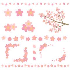 桜の装飾セット/ vector eps