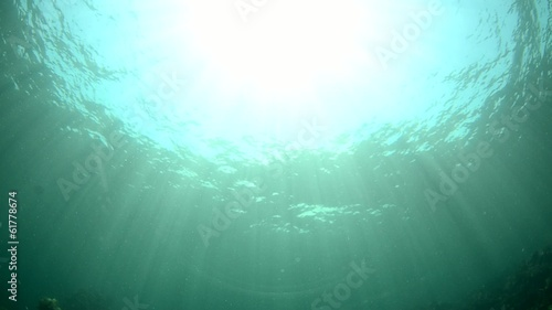underwater sunburst