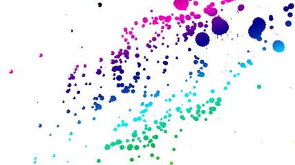 multicolor ink drops