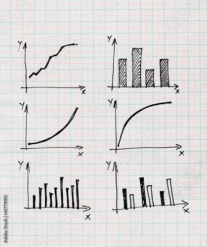 Diagrams and Charts and other infographics drawing