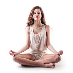 meditating lady