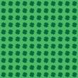 Four Leaf Clover or Shamrock Background - Seamless
