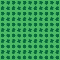 Four Leaf Clover or Shamrock Background - Seamless
