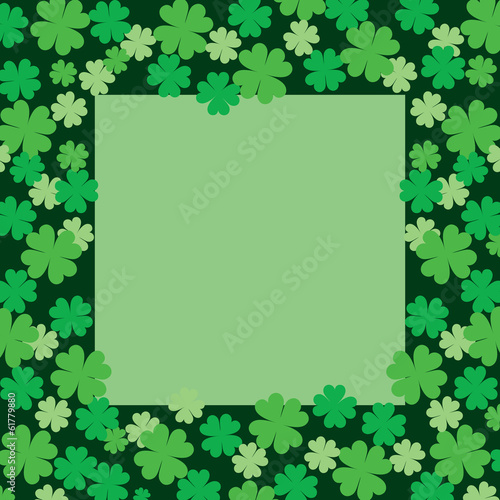 Four Leaf Clover or Shamrock Frame