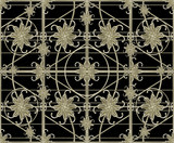 Luxury Silver Ornamental Pattern