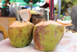 Two Fresh coconut
