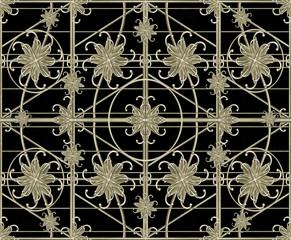 Luxury Silver Ornamental Pattern