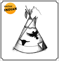Indians teepee