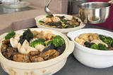 Poon Choi Cantonese Big Feast Bowls Preparation