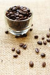 coffee on grunge background