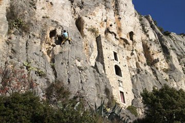 Hermitage in crag on Marjan hill in Split, Croatia