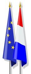 Vlaggen : Europa en Nederland samen