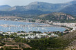 The panoramic view of Pollenca Port. Majorca, Spain