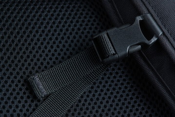 Black plastic buckle