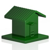 Green Plastic Model of a Small House