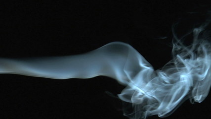 Slow motion of incense smoke